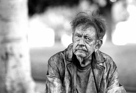 Beggar at Courthouse