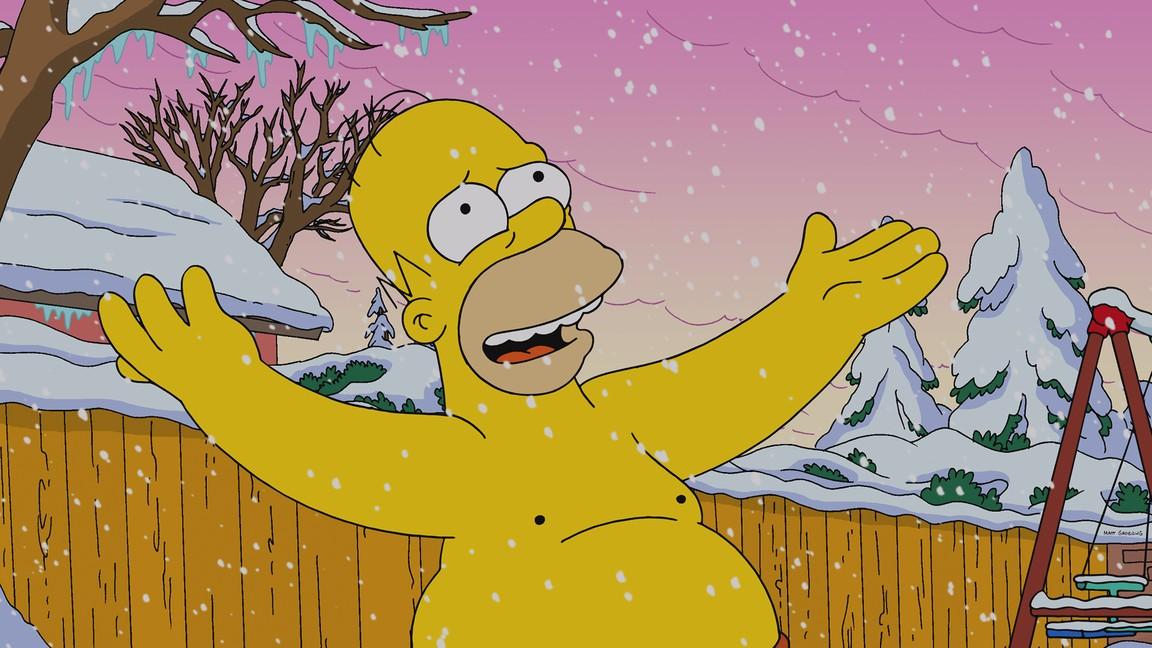 The Simpsons - Season 25 Episode 08: White Christmas Blues