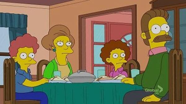 The Simpsons - Season 23 Episode 21: Ned 'n' Edna's Blend